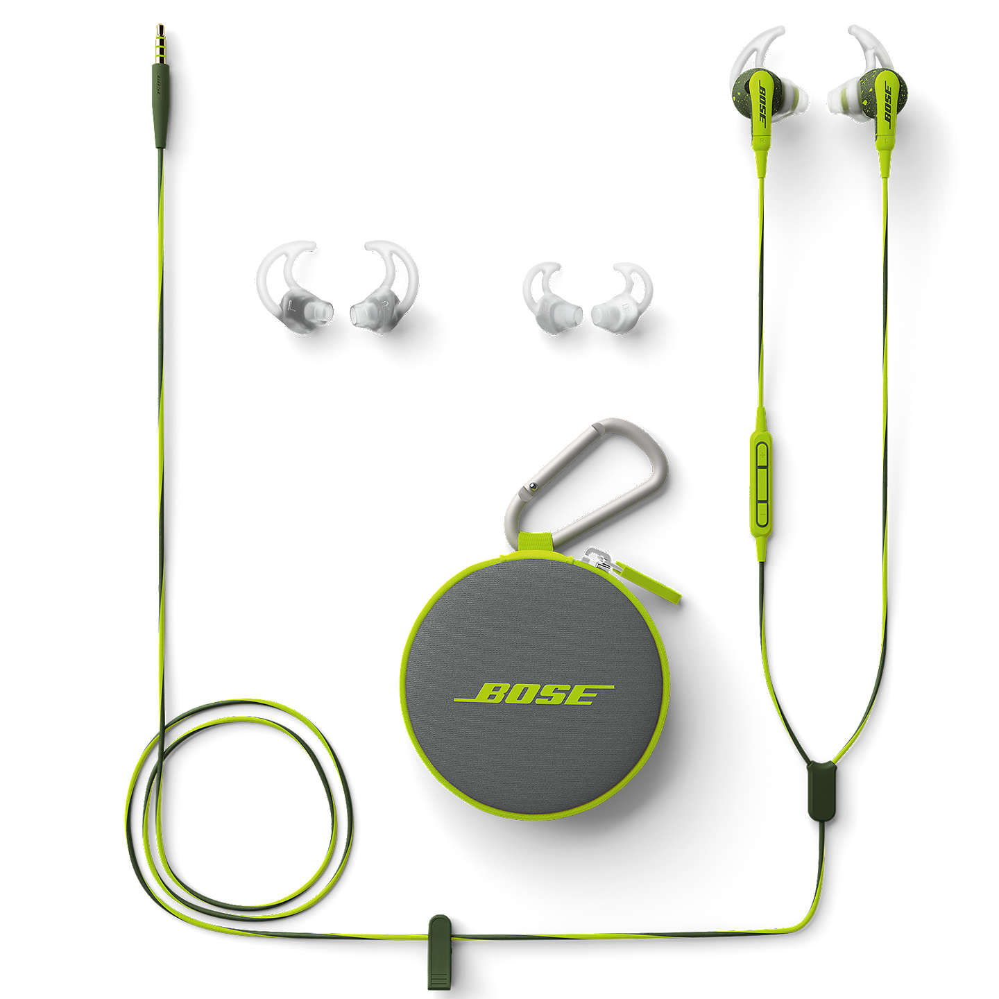 BuyBose® SoundSport™ Sweat & Weather-Resistant In-Ear Headphones With 3-Button In-Line Remote and Carry Case, Energy Green Online at johnlewis.com