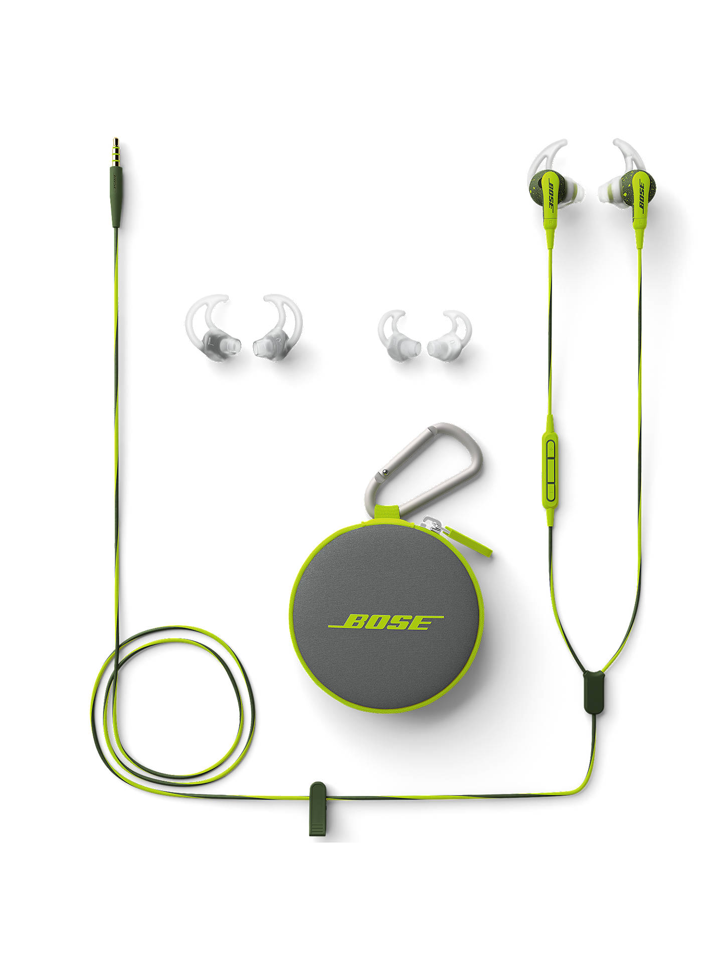 Buy Bose® SoundSport™ Sweat & Weather-Resistant In-Ear Headphones With 3-Button In-Line Remote and Carry Case, Energy Green Online at johnlewis.com