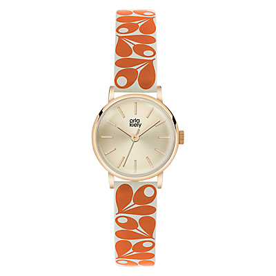 Orla Kiely Women's Plant Print Strap Leather Strap Watch
