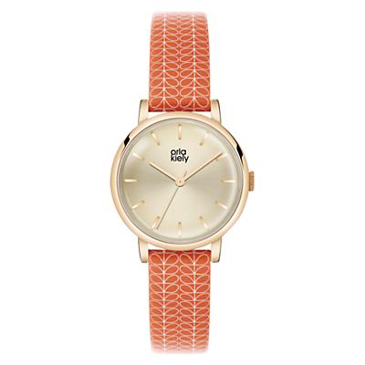 Orla Kiely Women's Stem Print Strap Leather Strap Watch