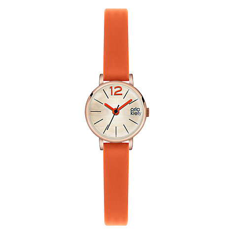 Buy Orla Kiely Women's Tiny Case Leather Strap Watch Online at johnlewis.com