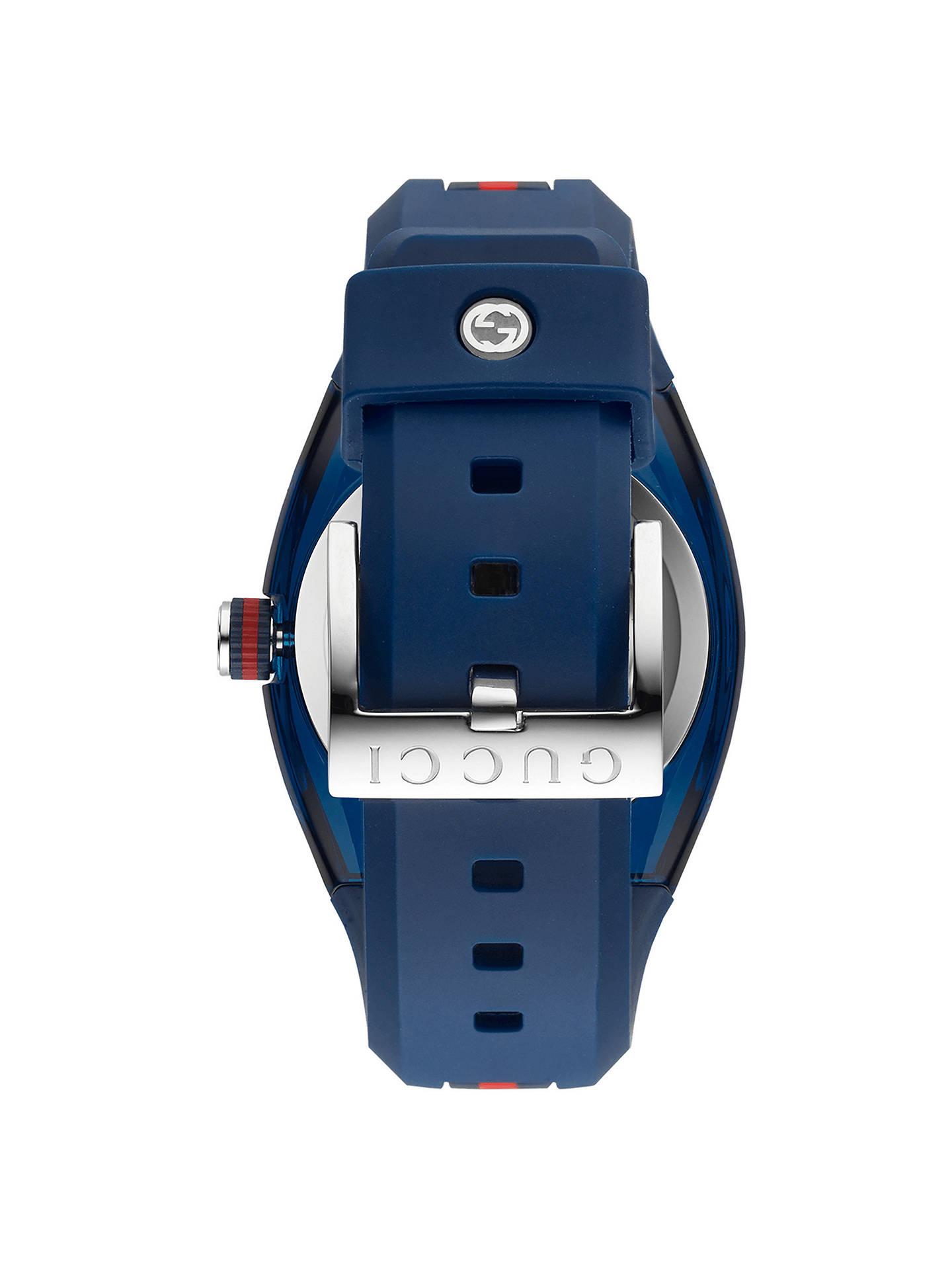 f19e8584609 ... Buy Gucci YA137304 Unisex Sync Rubber Strap Watch