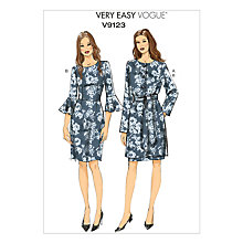 Buy Vogue Very Easy Women's Jacket, Belt And Dress Sewing Pattern, 9123 Online at johnlewis.com