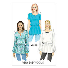 Buy Vogue Women's Tunic Top Sewing Pattern, 9129 Online at johnlewis.com