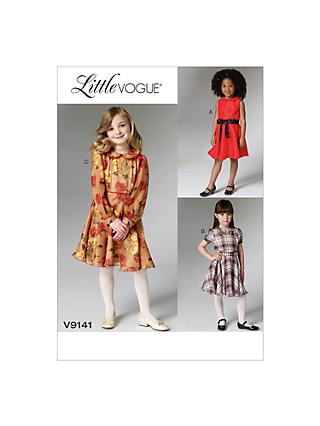 Vogue Girls  Little Vogue Party Dress Sewing Pattern 4fb33b832
