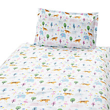 Buy John Lewis Baby Animal Safari Duvet Cover Set, White Online at johnlewis.com