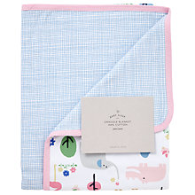 Buy John Lewis Baby Animal Safari Swaddle Blanket, Multi Online at johnlewis.com