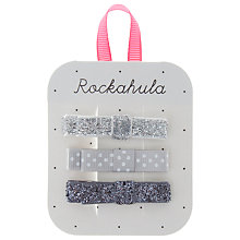Buy Rockahula Glitter Grosgrain Bow Clips, Pack of 3 Online at johnlewis.com