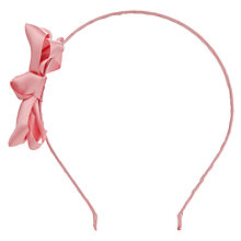 Buy Rockahula Satin Ruffle Bow Alice Band, Pink Online at johnlewis.com
