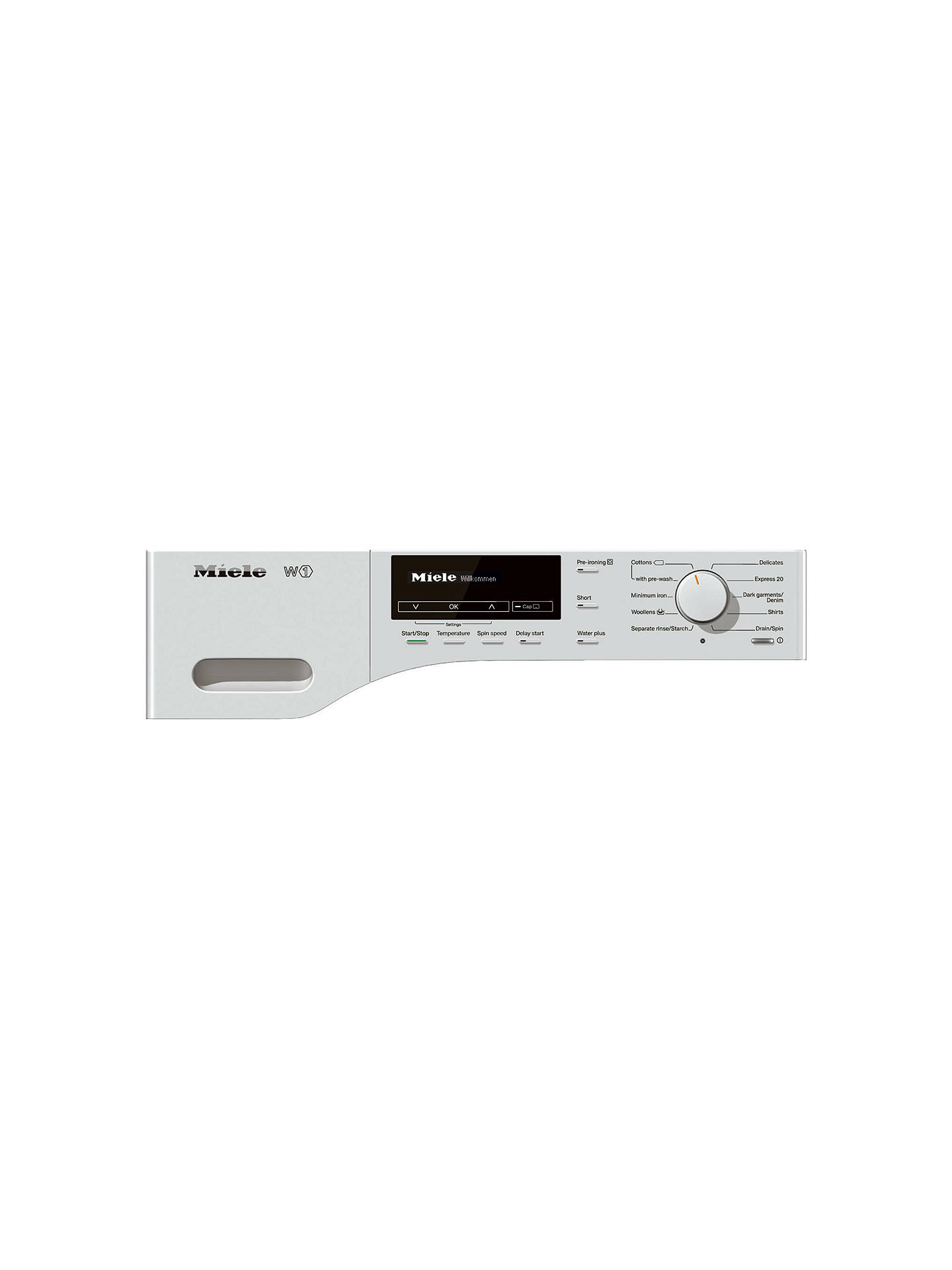 Buy Miele WKB120 Freestanding Washing Machine, 8kg Load, A+++ Energy Rating, 1600rpm Spin, White Online at johnlewis.com