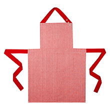 Buy House by John Lewis Woven Apron, Red Online at johnlewis.com