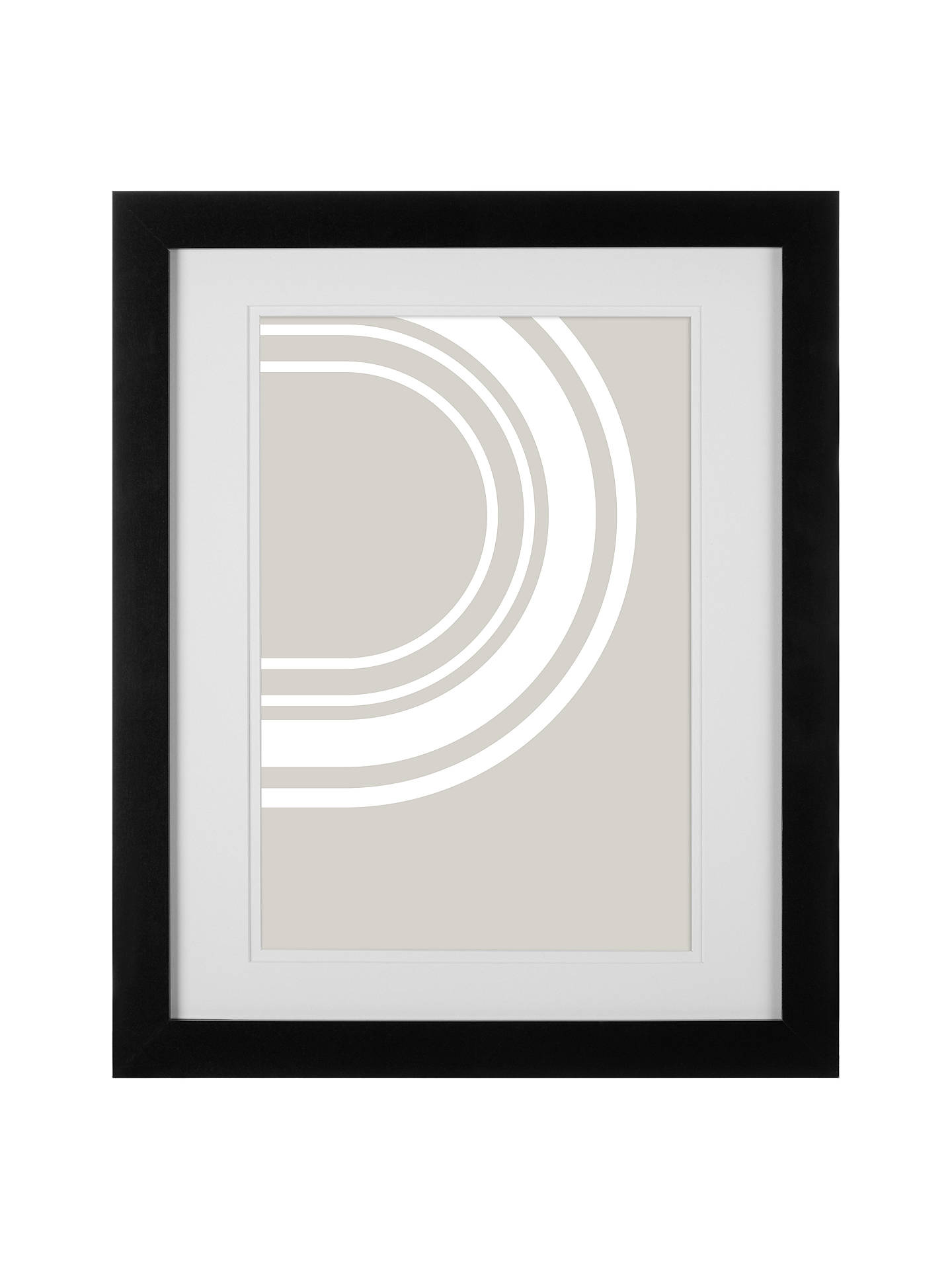 John Lewis Partners Certificate Frame Mount A4 Black At John