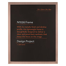 "Buy Design Project by John Lewis No.026 Rose Gold Finish Photo Frame, 8 x 10"" Online at johnlewis.com"