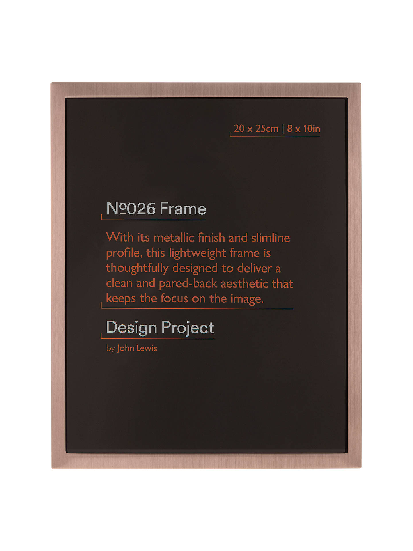 Design Project By John Lewis No026 Rose Gold Finish Photo Frame 8