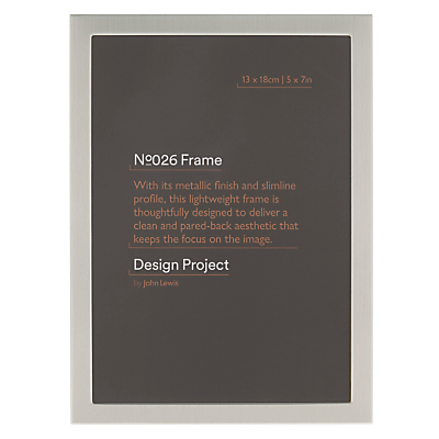 Design Project by John Lewis No.026 Pewter Finish Frame, 5 x 7
