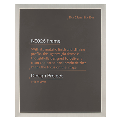 Image of Design Project by John Lewis No.026 Pewter Finish Photo Frame, 8 x 10