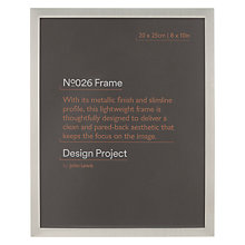 "Buy Design Project by John Lewis No.026 Pewter Finish Photo Frame, 8 x 10"" Online at johnlewis.com"