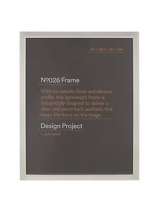 Design Project by John Lewis No.026 Pewter Finish Photo Frame, 8 x 10""
