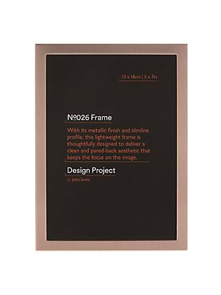 "Design Project by John Lewis No.026 Metallic Finish Photo Frame, 5 x 7"" (13 x 18cm)"