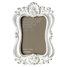 "Buy John Lewis Kensington Ornate White Photo Frame, 4 x 6"" Online at johnlewis.com"