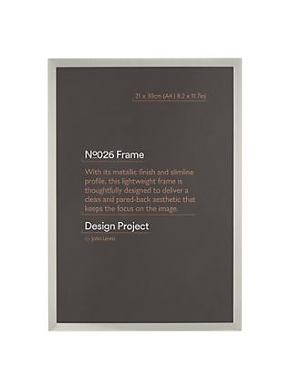 "Design Project by John Lewis No.026 Metallic Finish Photo Frame, A4 (21 x 30cm/8.2 x 11.7"")"
