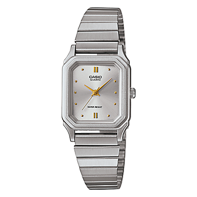 Casio LQ-400D-7AEF Women's Stainless Steel Bracelet Strap Watch, Silver