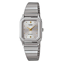 Buy Casio LQ-400D-7AEF Women's Stainless Steel Bracelet Strap Watch, Silver Online at johnlewis.com