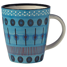 Buy west elm Potter's Workshop Dash Mug, Blue Online at johnlewis.com