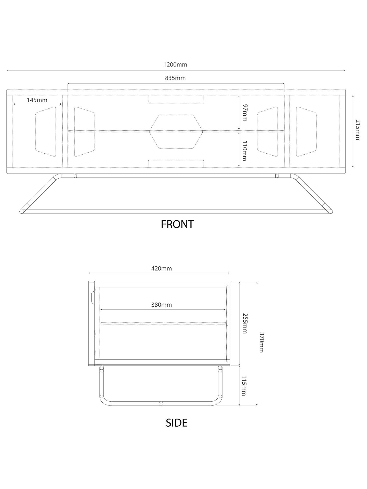 Alphason Chromium 1200 Tv Stand For Tvs Up To 60 At John Lewis Scott Wiring Diagrams Get Free Image About Diagram Buyalphason Black Online Johnlewis