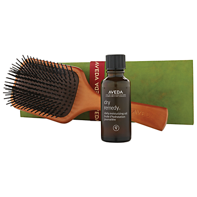 AVEDA Dry Remedy Daily Moisturising Oil With Paddle Brush Haircare Gift Set