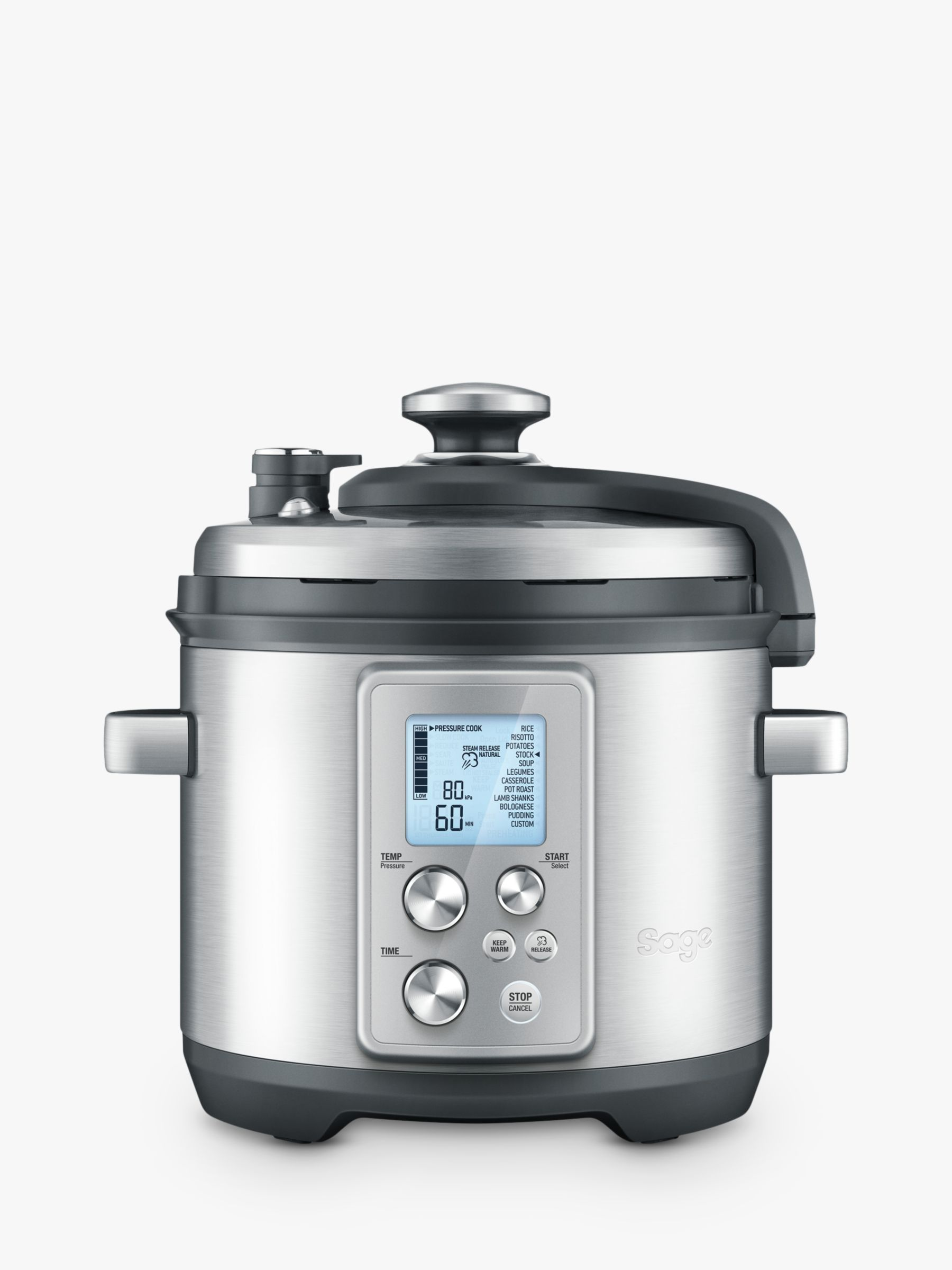 Sage Sage BPR700BSS The Fast Slow Pro Slow Cooker, Brushed Metal