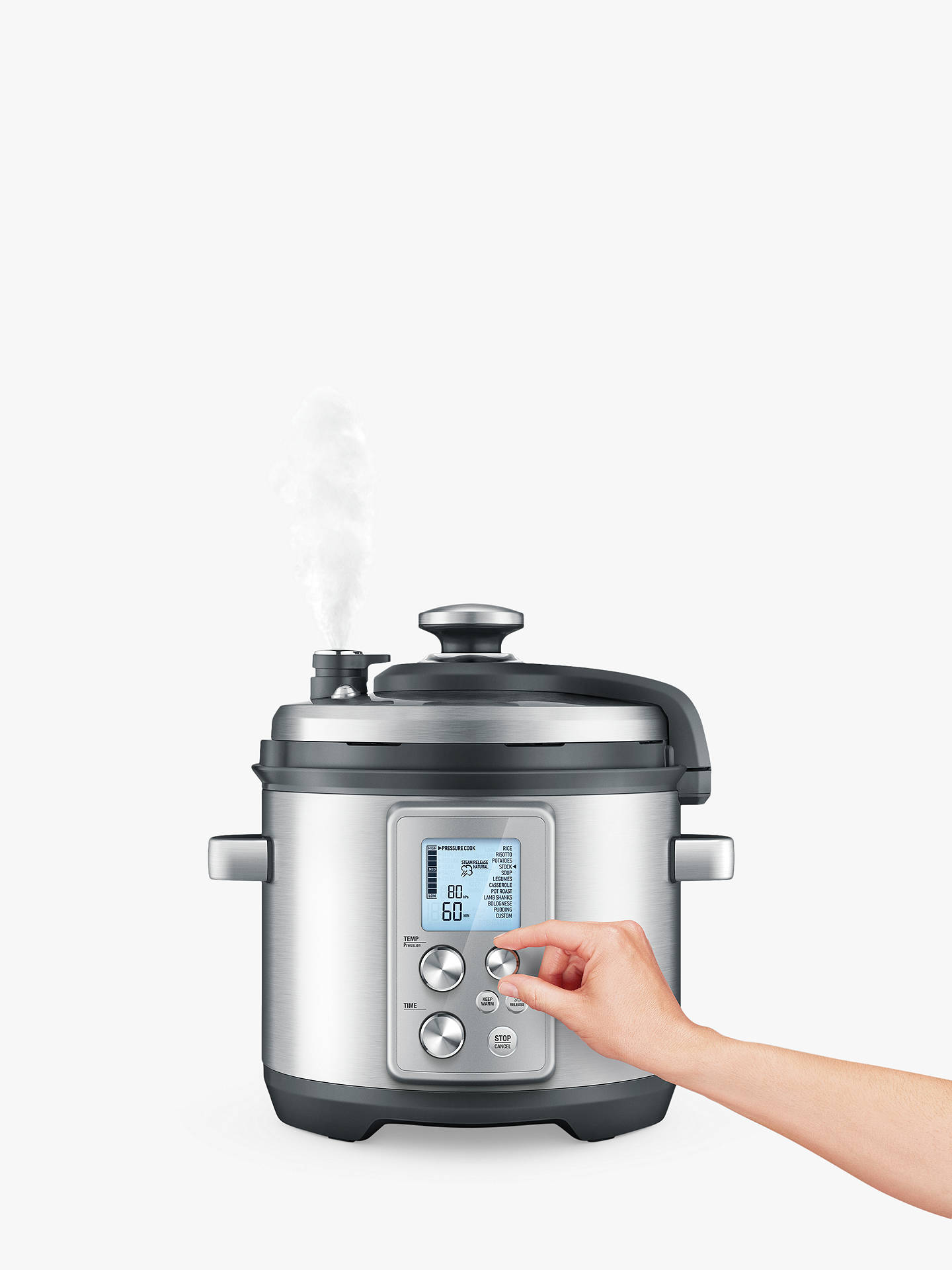 Buy Sage BPR700BSS The Fast Slow Pro Slow Cooker, Brushed Metal Online at johnlewis.com