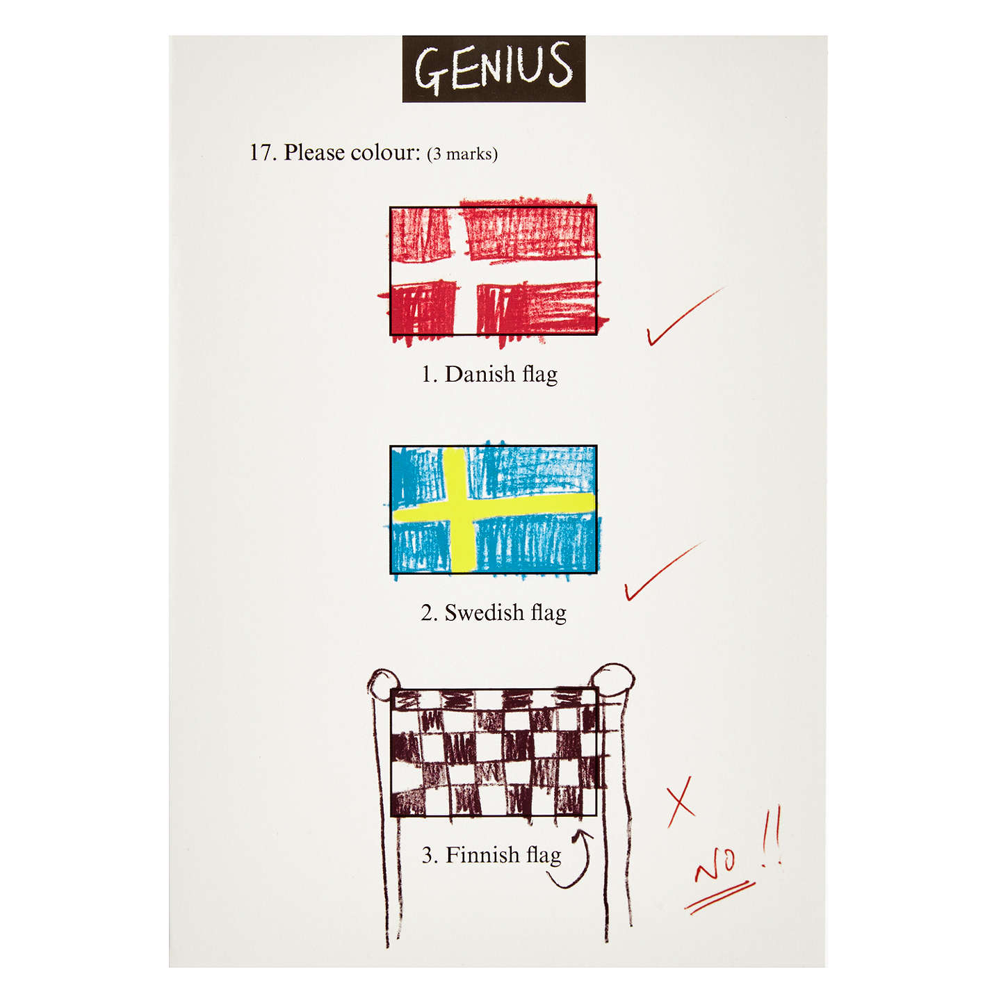 Woodmansterne Colour The Flags Greeting Card At John Lewis