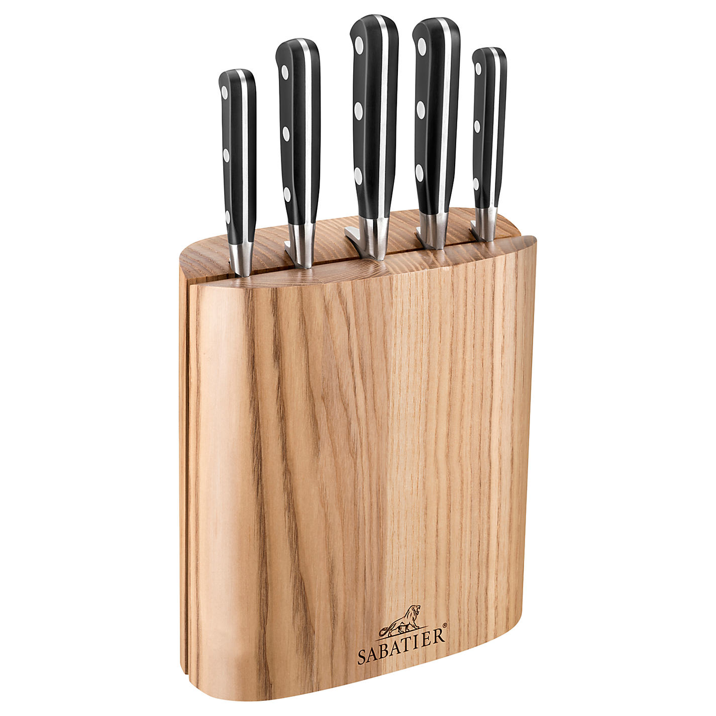 knife blocks john lewis buy sabatier filled knife block 5 piece online at johnlewis com