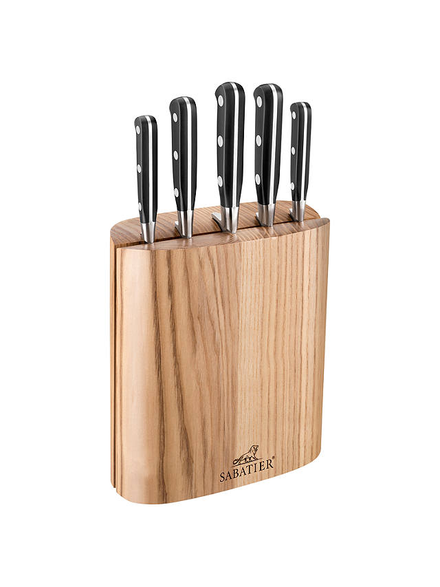 Buy SABATIER Wood Filled Knife Block, 5 Piece Online at johnlewis.com