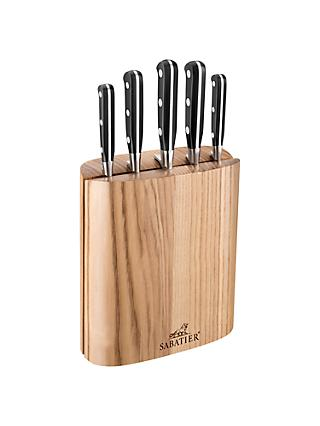 SABATIER Wood Filled Knife Block, 5 Piece