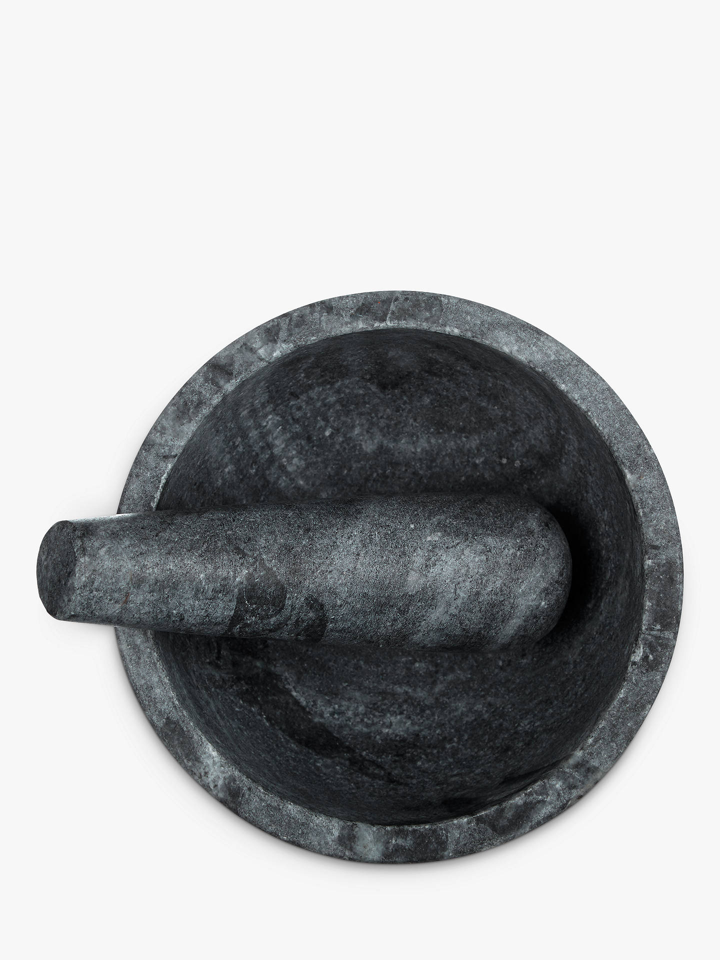 BuyJohn Lewis & Partners Honed Grey Marble Pestle and Mortar Online at johnlewis.com