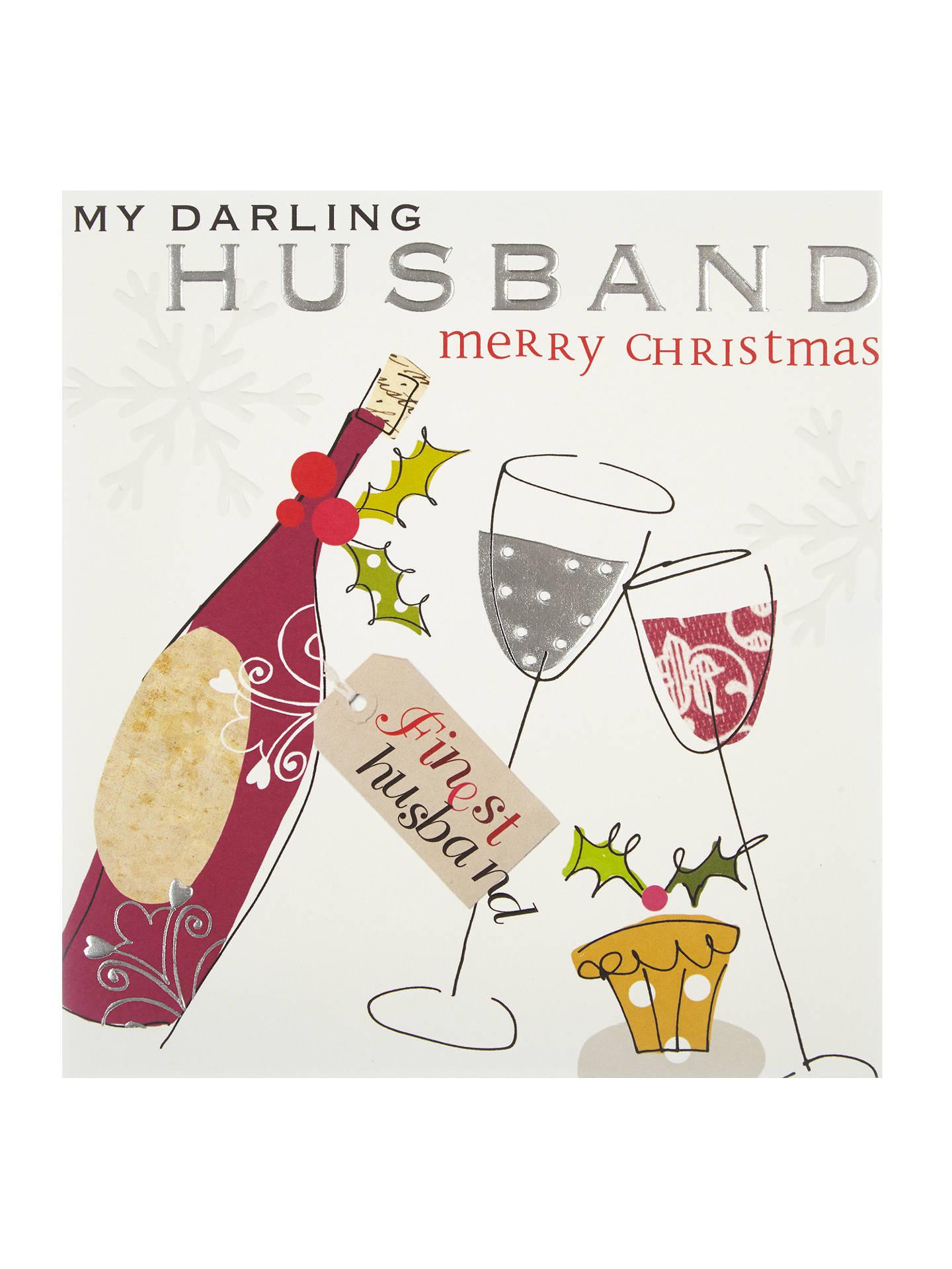 Caroline Gardner Husband Merry Christmas Card at John Lewis & Partners