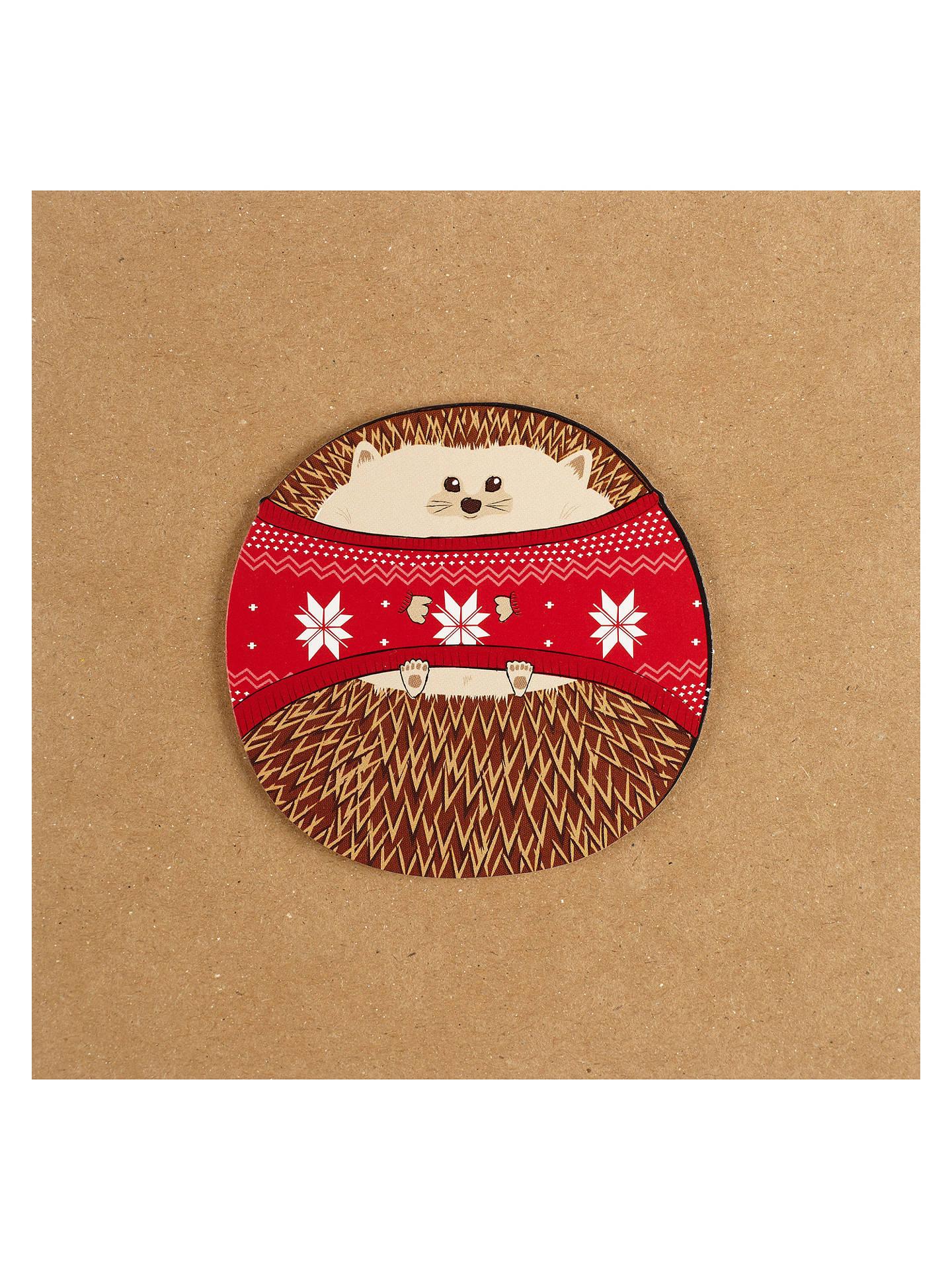 Hedgehog Christmas Jumper.Tache Crafts Hedgehog In Jumper Christmas Card At John Lewis