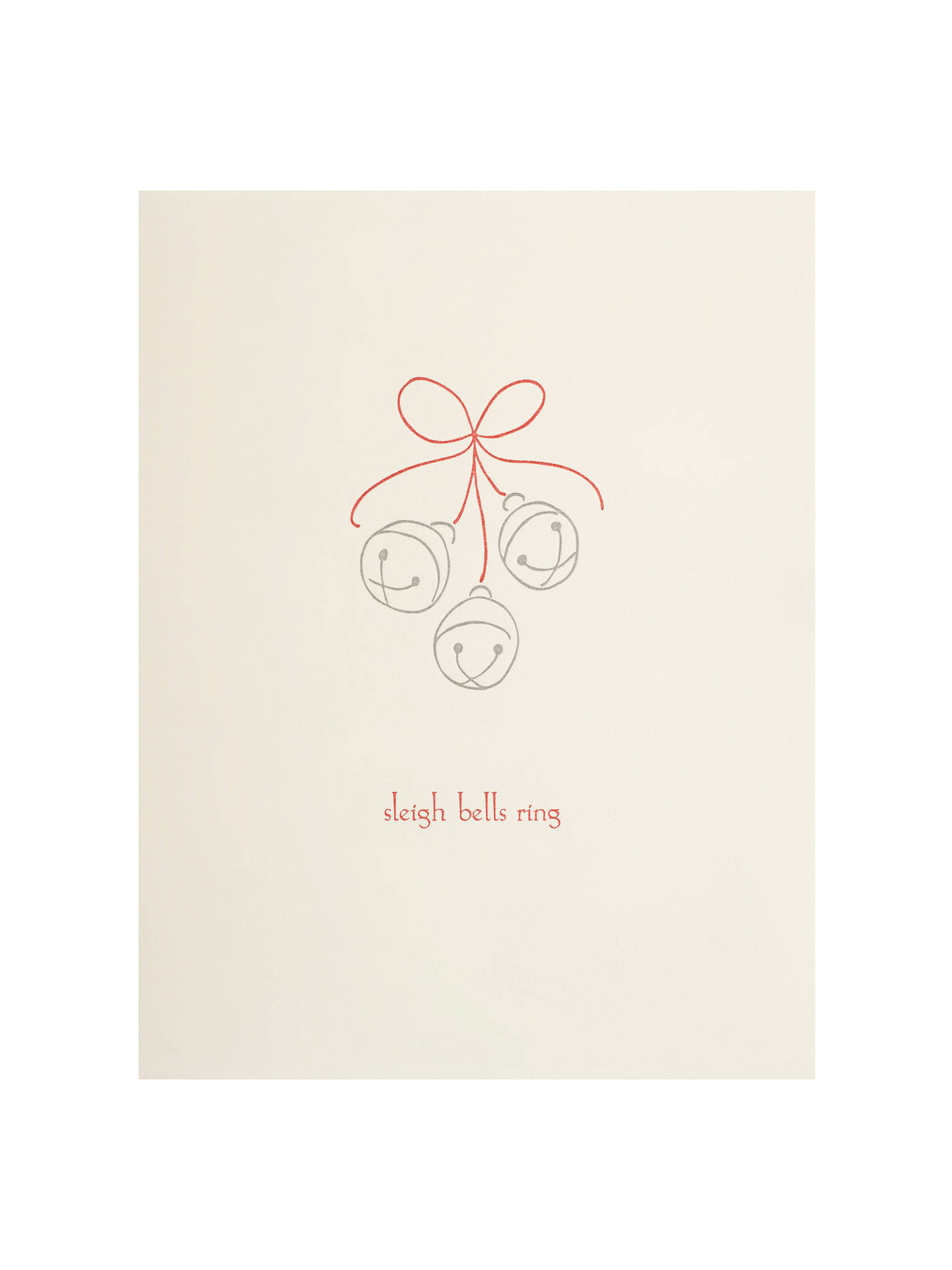 Redback Cards Sleigh Bells Ring Christmas Card at John Lewis & Partners