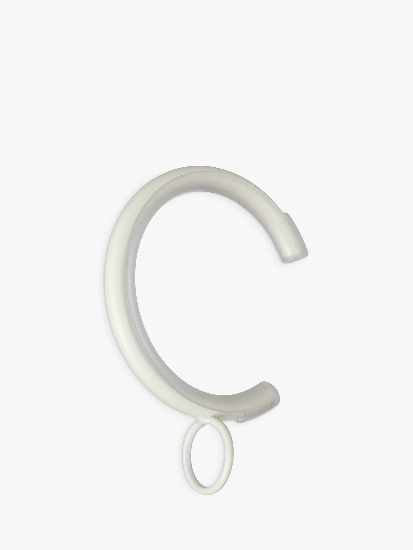BuyJohn Lewis & Partners Chalk White Metal Passing Rings, Dia.25mm, Set of 6 Online at johnlewis.com