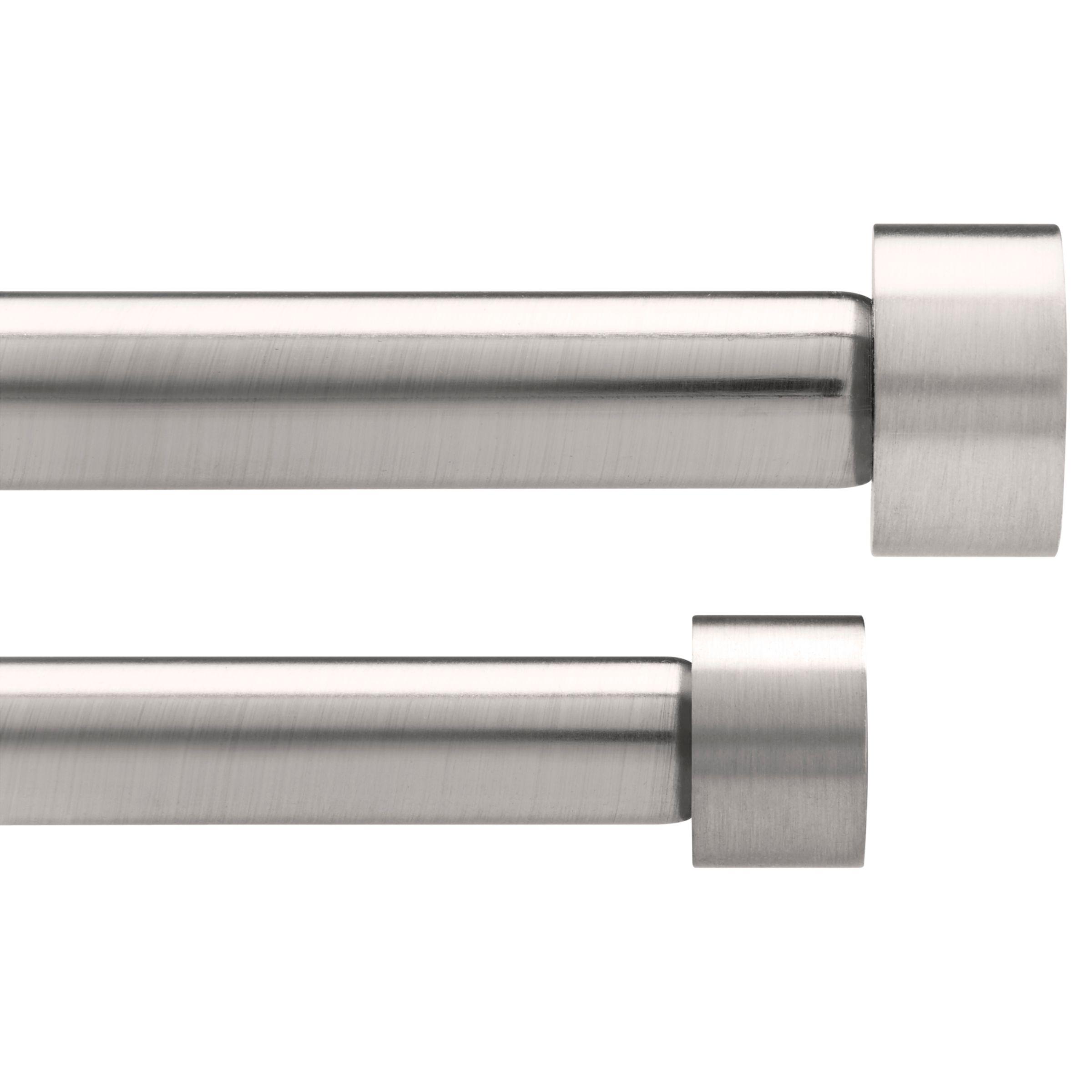 Umbra Umbra Adjustable Double Curtain Pole Kit, Nickel, Dia.16/19mm