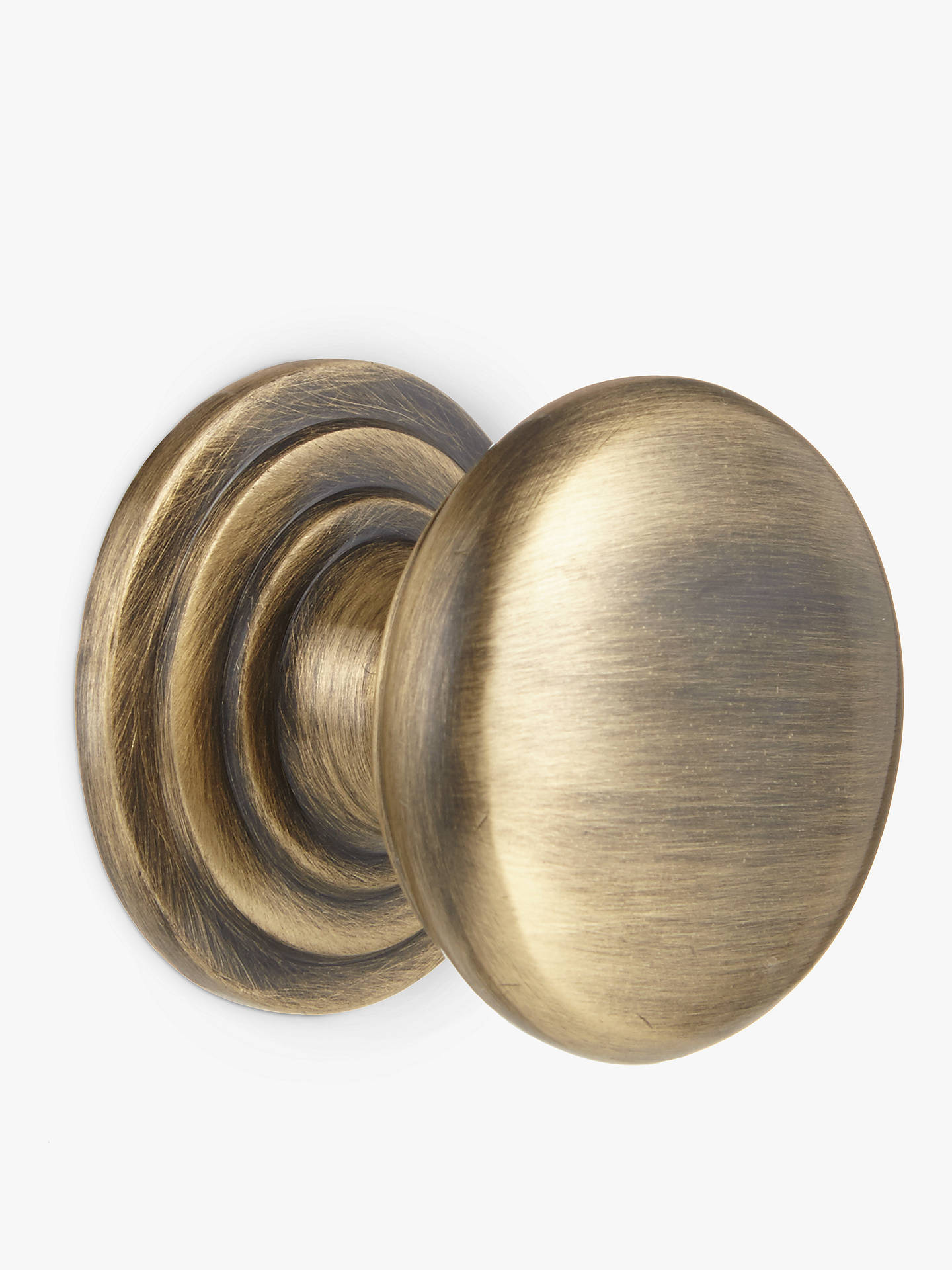 BuyJohn Lewis & Partners Cupboard Knob, Dia.38mm, Antique Brass Online at johnlewis.com