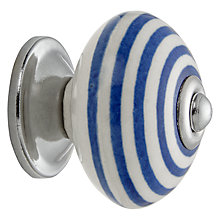 Buy John Lewis Nautical Stripe Cupboard Knob, Blue Online at johnlewis.com