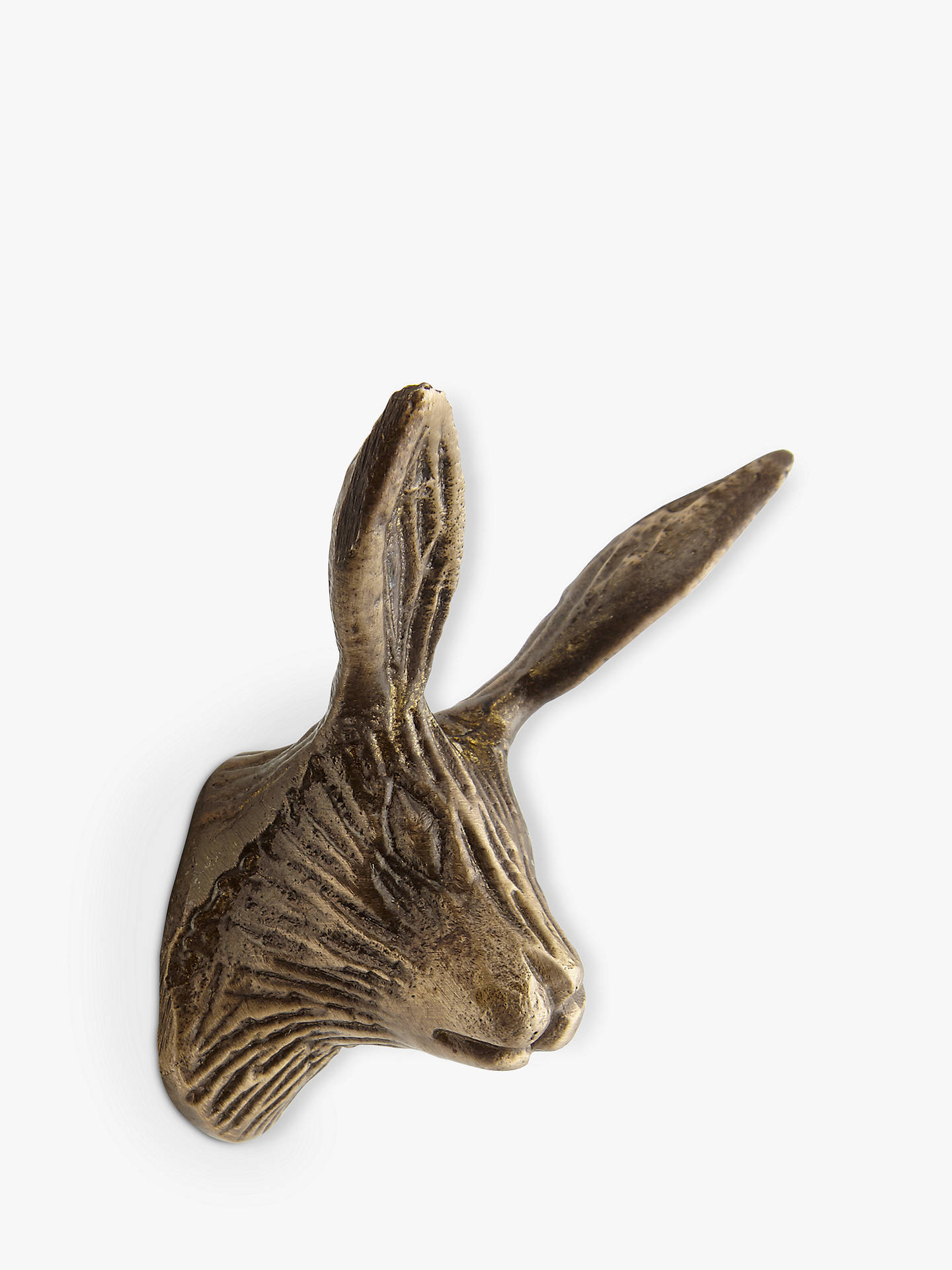 BuyJohn Lewis & Partners Brass Hare Cupboard Knob Online at johnlewis.com