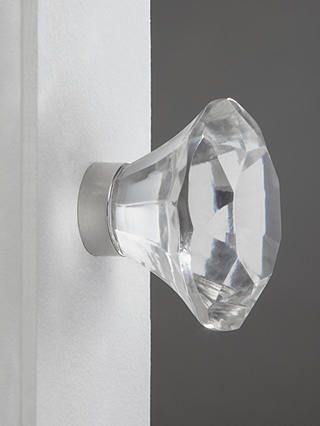 Buy John Lewis & Partners Faceted Glass Cupboard Knob, Large Online at johnlewis.com