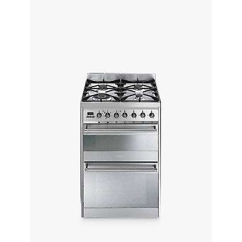 Buy Smeg SY62MX8 Symphony Dual Fuel Cooker, Stainless Steel Online at johnlewis.com