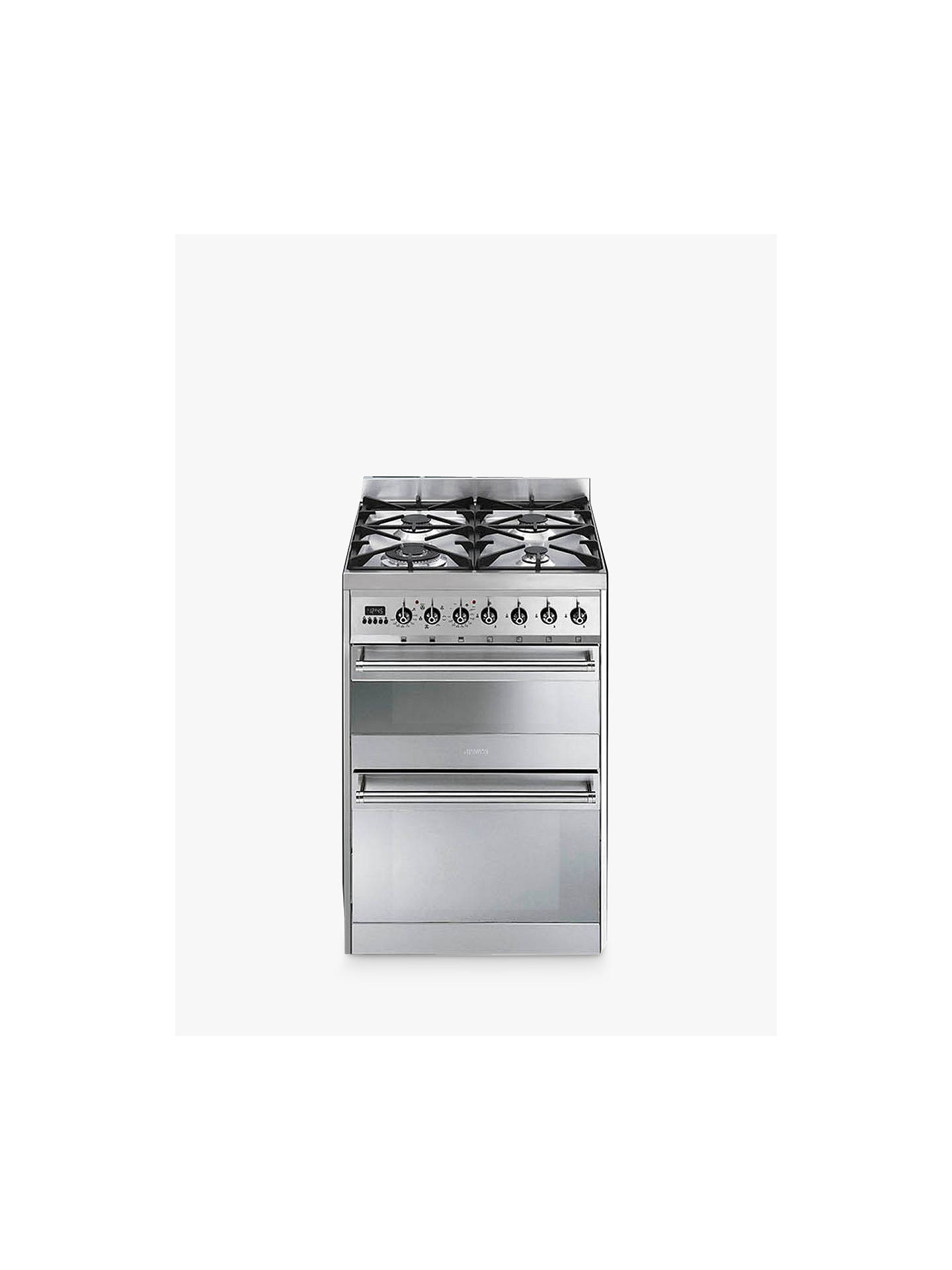 BuySmeg SY62MX8 Symphony Dual Fuel Cooker, Stainless Steel Online at johnlewis.com