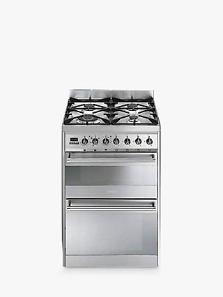Smeg SY62MX8 Symphony Dual Fuel Cooker, Stainless Steel