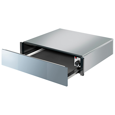Smeg CTP1015S Linea Integrated Warming Drawer, Silver Glass